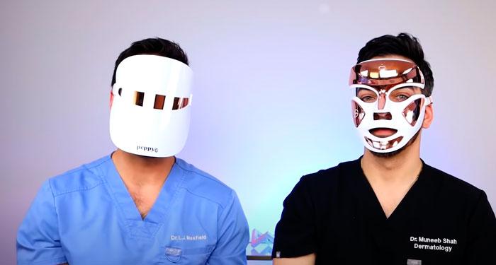 закрытая и открытая LED маска для лица что лучше