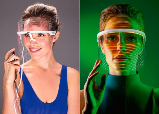 футуристичная маска LED для омоложения лица