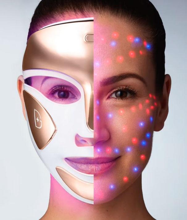 LED маска с одновременным включением синего и красного света