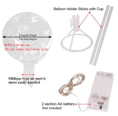 батарейный блок вместо ручки у светящегося шара